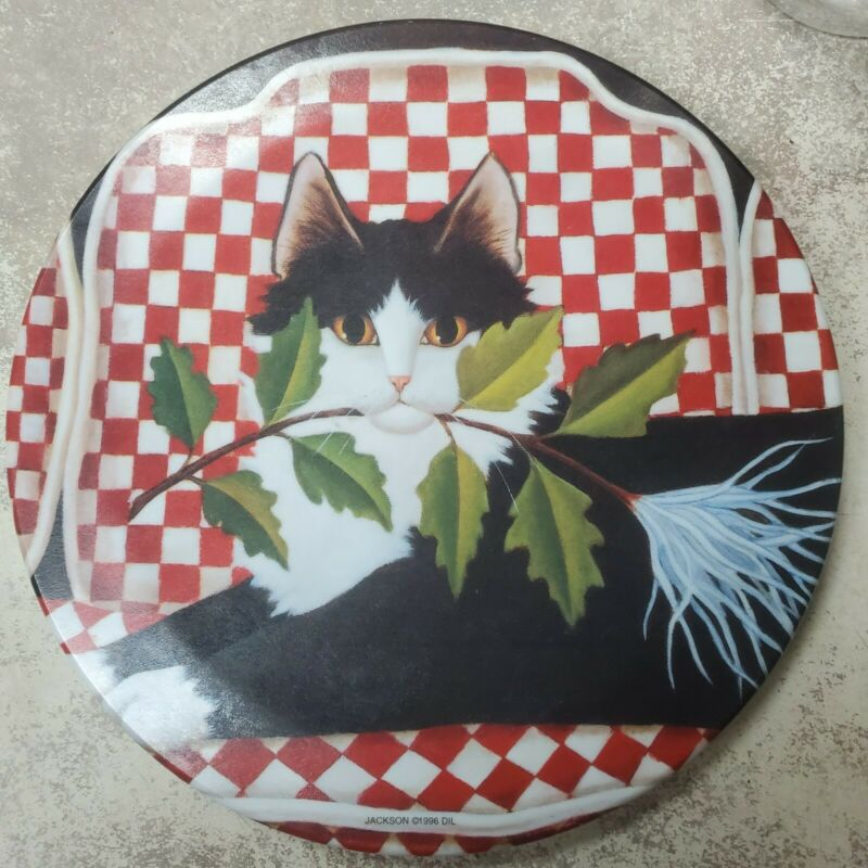 Cute Cat Kitten Animal Melmac trivet plate... absolutely Cute... Made in Italy