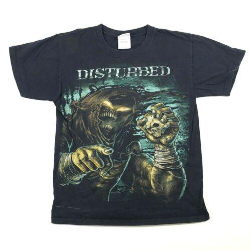 Disturbed 2010 Mens Small Band T Tee Shirt Necromancer Crew Neck Black Bravado