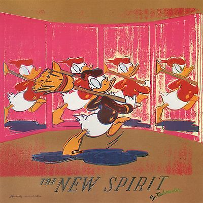 "ANDY WARHOL BOOK PRINT ""THE NEW SPIRIT (DONALD DUCK)"" DISNEY COMIC CHARACTER"
