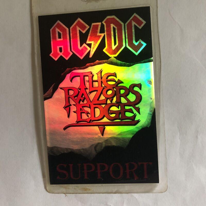 RARE AC/DC 1991 Razors Edge All Access Support Backstage Laminate Pass