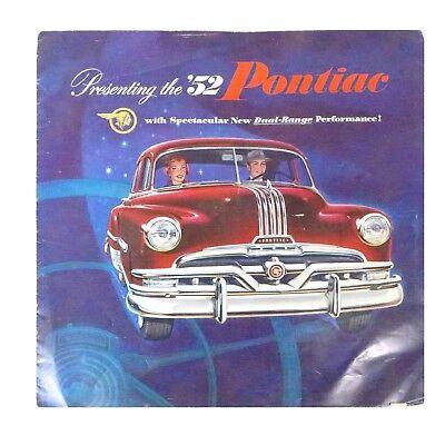 Vintage Presenting The '52 Pontiac Dual Range Car Promotional Ad Brochure Poster