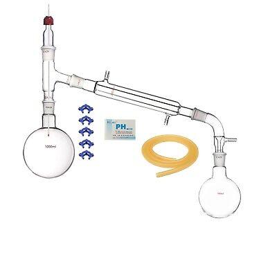 1000ml2429glass Distillation Apparatuslaboratory Vacuum Distill Devise Kit