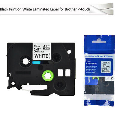 1pk Black On White Label Tape P-touch For Brother Tz-231 Tze-231 12mm X 8m 0.47