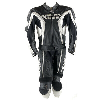 Arlen Ness TX-1 1-Teiler Motorrad Lederkombi Schwarz//Wei/ß 48