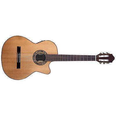 Kremona Verea Acoustic Electric Classical Nylon String Guitar, Red Cedar Top