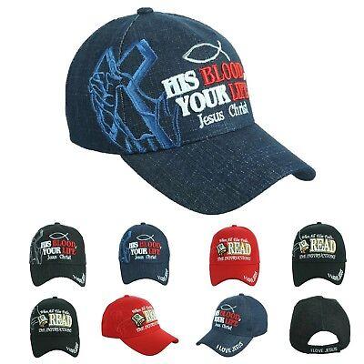 HIS BLOOD, YOUR LIFE JESUS CHRIST Baseball Cap I LOVE JESUS Hats Fashion Caps