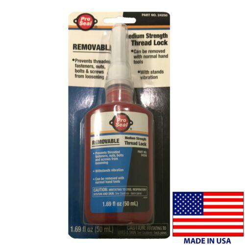 Pro Seal Thread Locker Medium Strength Removable Blue 50ML 1.69 Fl Oz Bottle