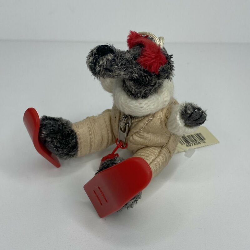 Bath & Body Works Gray Teddy Bear Ski Parka Christmas Tree Ornament w/ Tag