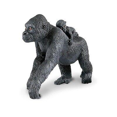 Lowland Gorilla With Baby Wild Safari Animal Figure Safari Ltd NEW Toy Mammals
