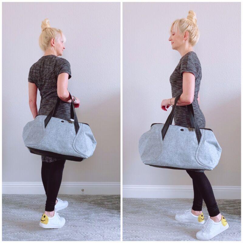 NWT Lululemon Out Of Range Bag Heathered Black