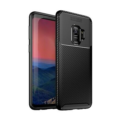 Samsung Galaxy S9 Case Carbon Fibre TPU Silicone  Best Protection Cover