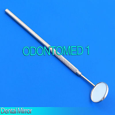 New 7 Stainless Steel Dental Inspection Mirror With 34 Diameter Real Glass