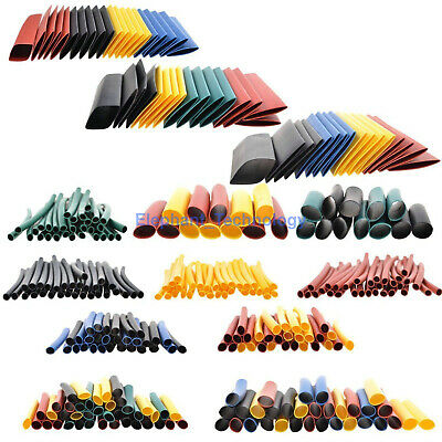 8size 328pc 21 Polyolefin Heat Shrink Tubing Tube Sleeve Wrap Wire Assortment