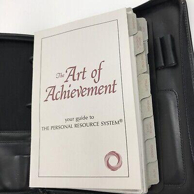 Day Runner Planner Zippered Binder Black Organizer Ring 1994 Art Of Achievement