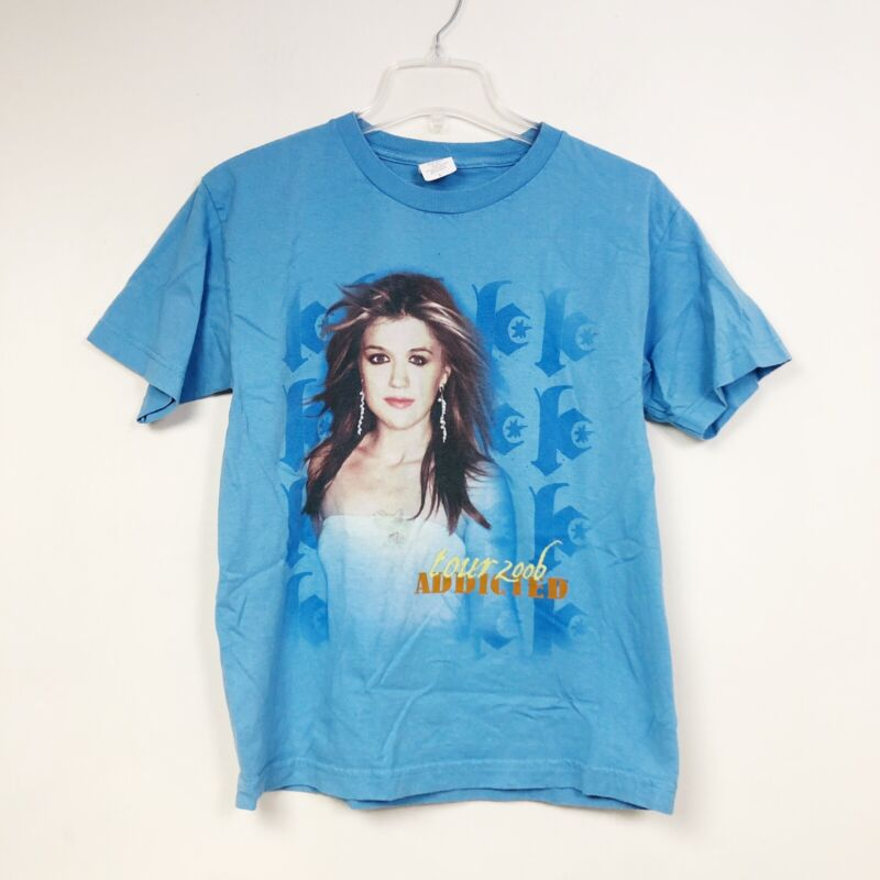 Kelly Clarkson Addicted Concert 2006 Band Tour Shirt Tee Top Youth Size Large