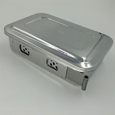 Stainless Steel Instruments Tray Case 6 With Hole Sterilization Tray Surgical