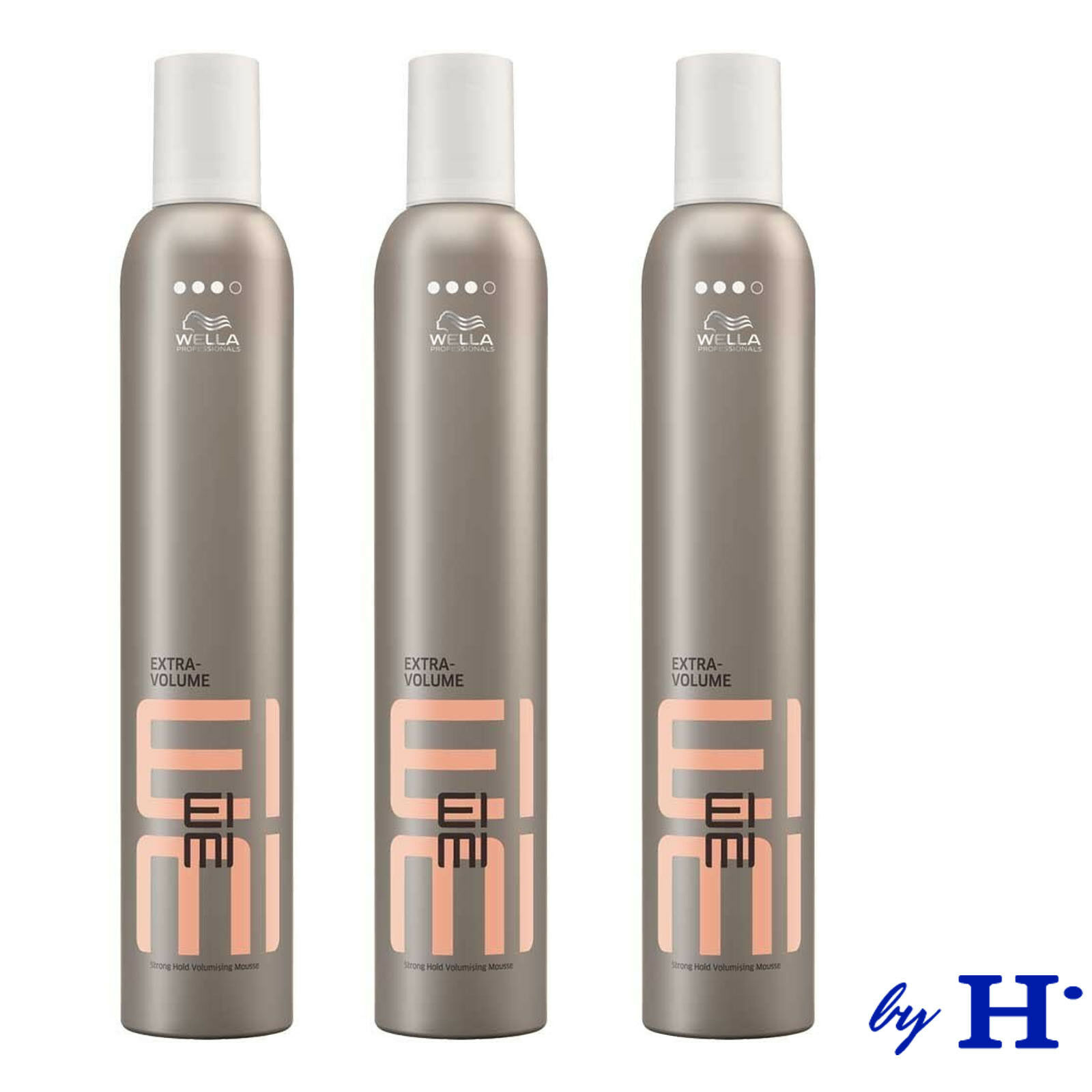 Wella EIMI Extra Volume Fönschaum Mousse Volumen Schaum starker Halt 3 x 500 ml