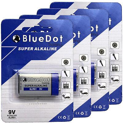 NEW! 4-Pack ~ 9 Volt 9v Alkaline BlueDot Battery ~ Mics Power CB Ham Radio USA