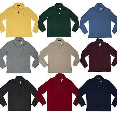 Men's Polo Ralph Lauren SWEATER Half Zip Sweatshirt S M L XL XXL