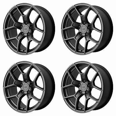 "4x Motegi 17x8.5 MR133 Wheels Satin Black 5x120 PCD +35mm Offset 6.13""BS"