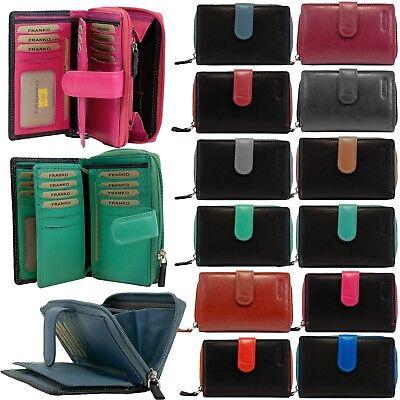 Weiche Damen Geldbörse (Edle Damen Geldbörse / Portemonnaie aus weichem Rind Leder 31 Fächer Lederbörse )