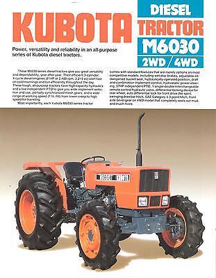 Farm Tractor Brochure - Kubota - M6030 - 1988 Fb586