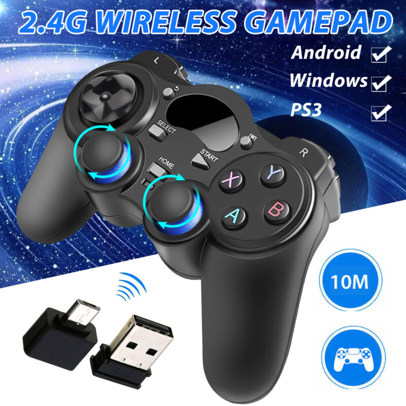 Wireless Gaming Controller Gamepad Joystick  for PS3 Android Tablet Phone PC TV