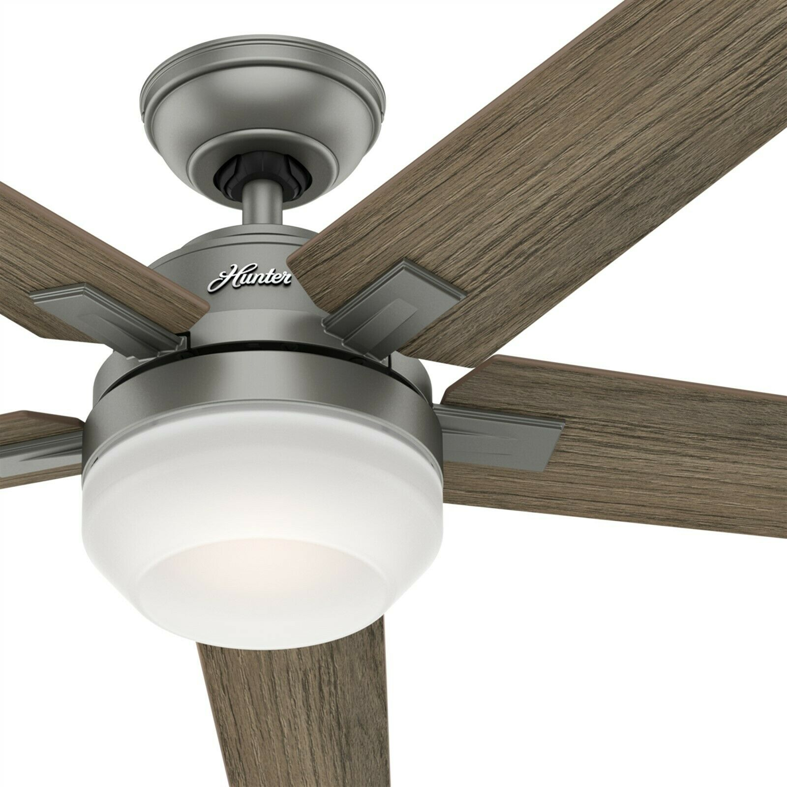 Contemporary Matte Silver Ceiling Fan