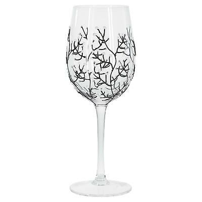 Sunny By Sue White Blossom Hand Painted Decorative Wine Glass Stylish Gift Idea](Wine Glass Decorating Ideas)