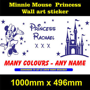 princess-minnie-mouse-sweet-dreams-wall-art-girls-bedroom-sticker-personalised