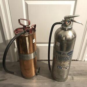 Vintage fire extinguishers $20/$25