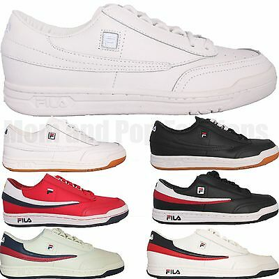 Mens Fila Original Tennis Ot Casual Athletic Shoes Sneakers White Black Gum Red