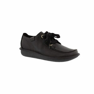 Clarks-Womens-Funny-Dream-Lace-Up-Black-Leather-Casual-Shoe