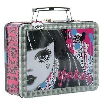 Monster High Makeup Tin School Lunch Box Nail Polish Lip Gloss Case Ghouls ()