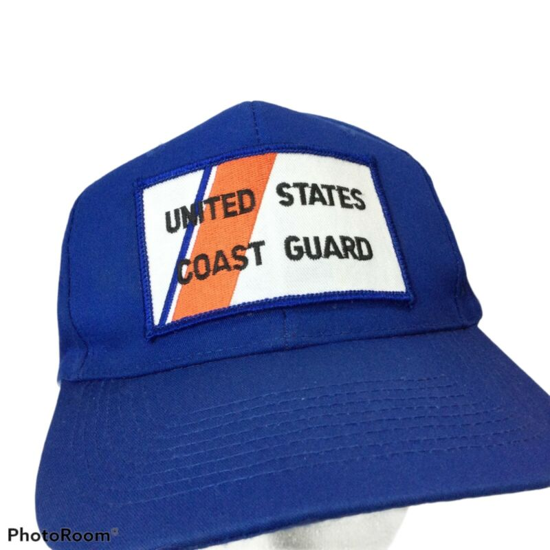 Vintage US Coast Guard Hat Snap Back USCG  baseball Cap Blue Adjustable