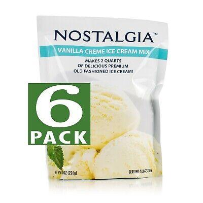 NEW! Nostalgia Ice Cream Mix: VANILLA CREME *LOT OF 6!*