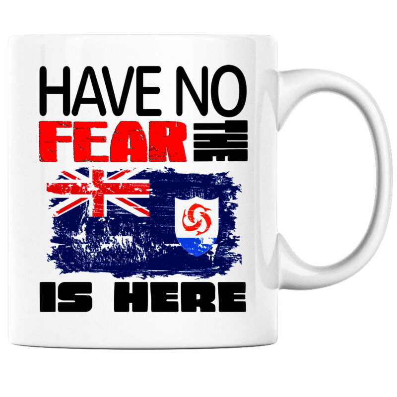 Have No Fear the Anguillan is Here Funny Coffee Mug Anguilla Heritage Pride