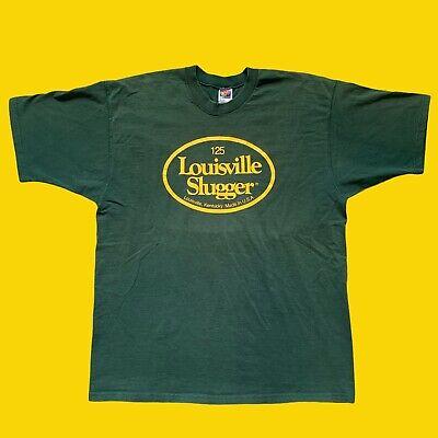 Vintage Louisville Slugger Baseball Bats USA Made T-Shirt Men's Sz XL