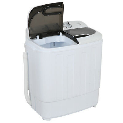 Portable Mini Wash Machine Compact Twin Tub 13lbs Top Load Washer Spin Dryer