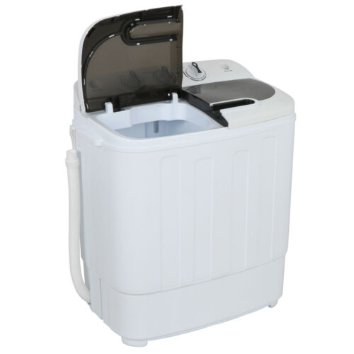 Portable Mini Wash Machine Compact Twin Tub 13lbs Top Load Washer Spin Dryer Home & Garden