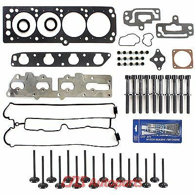 99-02 Isuzu Daewoo 2.0 2.2L Head Gasket Set Bolts Valves Kit Sealant X20SE X22SE
