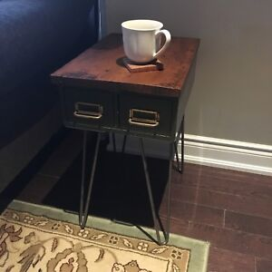 New | reclaimed end table