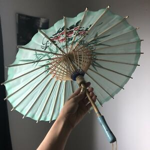 Mini blue cloth umbrella or parasol