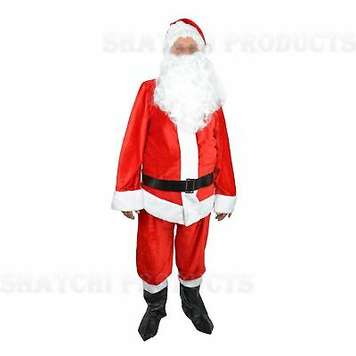 Premium Plush Extra Large Santa Suit Father Christmas Fancy Dress Costume