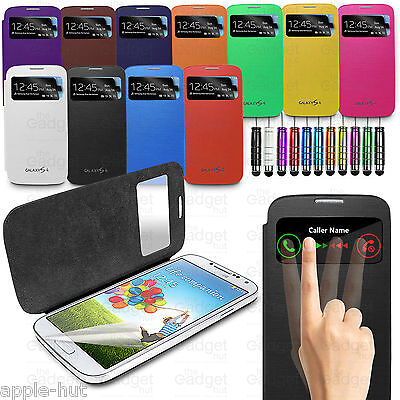 S-View Slim Flip Wallet Case Battery Back Cover For New Samsung Galaxy S4 i9500