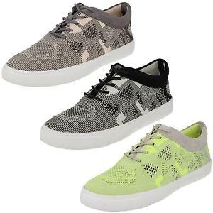 OFERTA-Clarks-Mujer-Cordones-Zapatillas-Casual-Deporte-Zapatos-Guante-purpurina