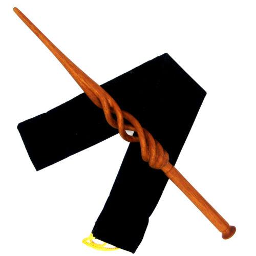 "15"" Hand Carved Albus Dumbledore Mahogany Wood Magic Wand Wizard Witch w/FreeBag"