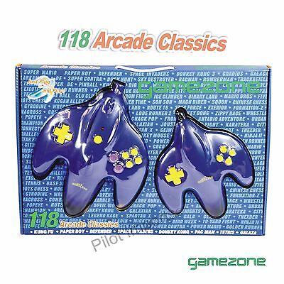 MARIO MEGA JOY PLUG N PLAY 2 PLAYER 118 CLASSIC ARCADE GAMES PACMAN DONKEY KONG