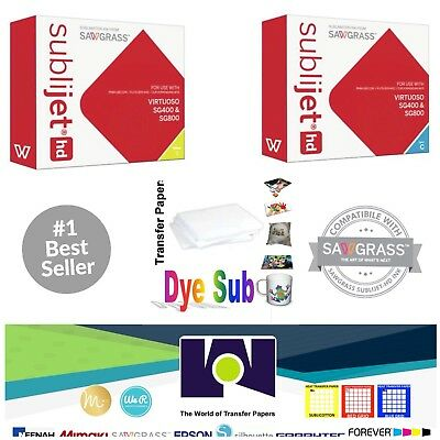 Sawgrass Sublimation Ink Cyan Yellow Cartridges For Sg400sg800 Free Paper