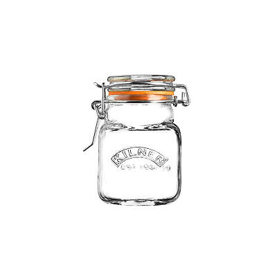 Kilner Bügelverschlussglas Cuadrados 70ML Bote Tarro de Hierbas
